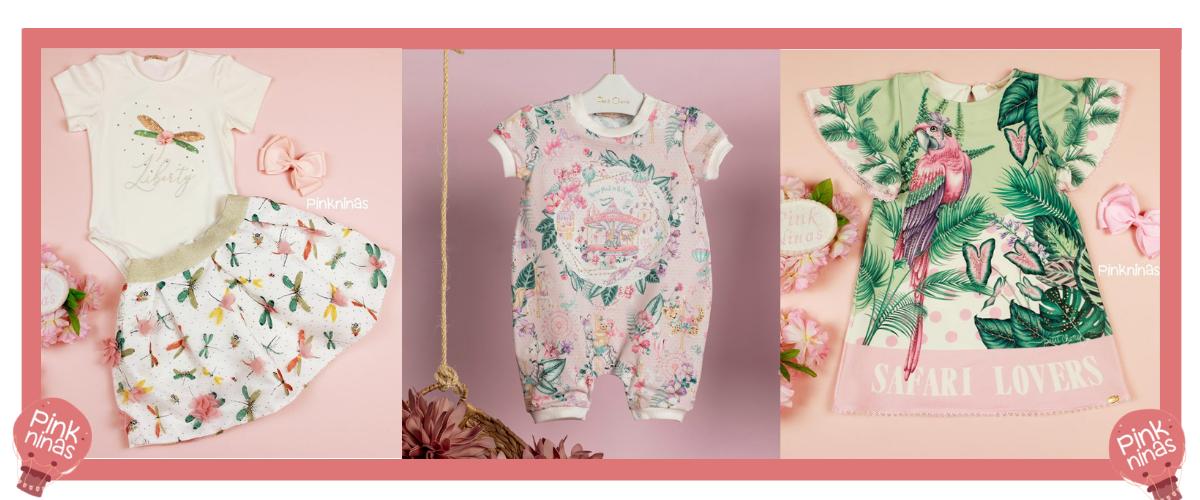 Primavera Pink Ninas muito charme e looks exclusivos