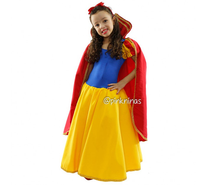 fantasia-infantil-vestido-de-princesa-amarelo-azul-capa-vermelha-tiara