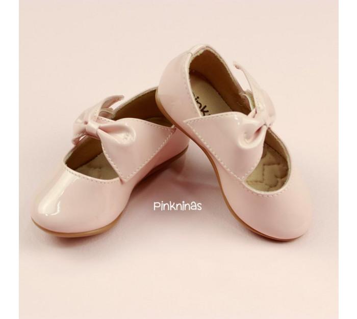 sapato-infantil-verniz-soft-rose-laco-estilo-sapatilha-frente