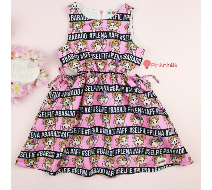 vestido-infantil-rosa-turma-da-monica-mon-sucre-memes-denise-frente