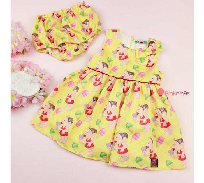 vestido-infantil-bebe-amarelo-turma-da-monica-mon-sucre-pop-frutas-calcinha-frente