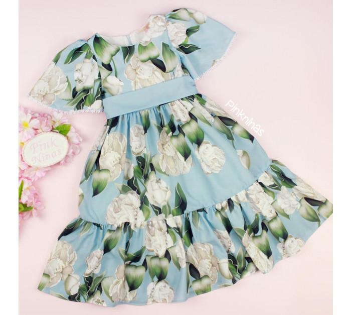 vestido-de-festa-infantil-azul-petit-cherie-floral-alessandra-frente
