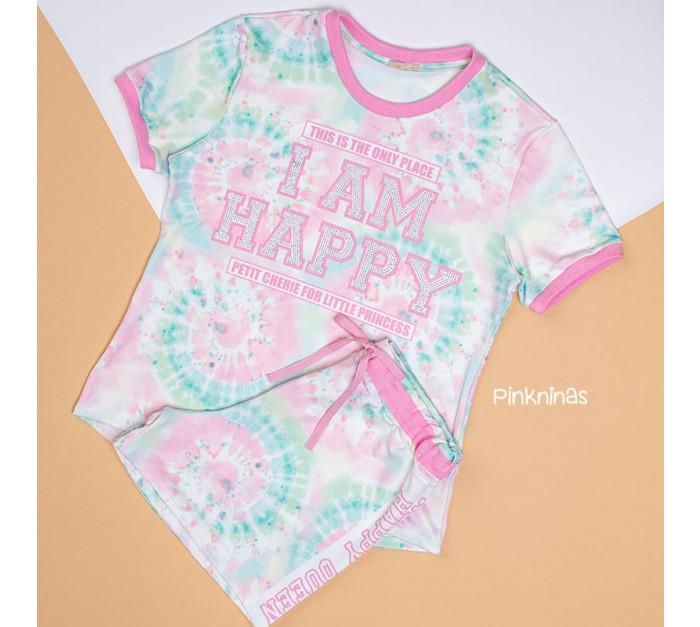 conjunto-rosa-petit-cherie-blusa-shorts-tye-die-cristais-mamae