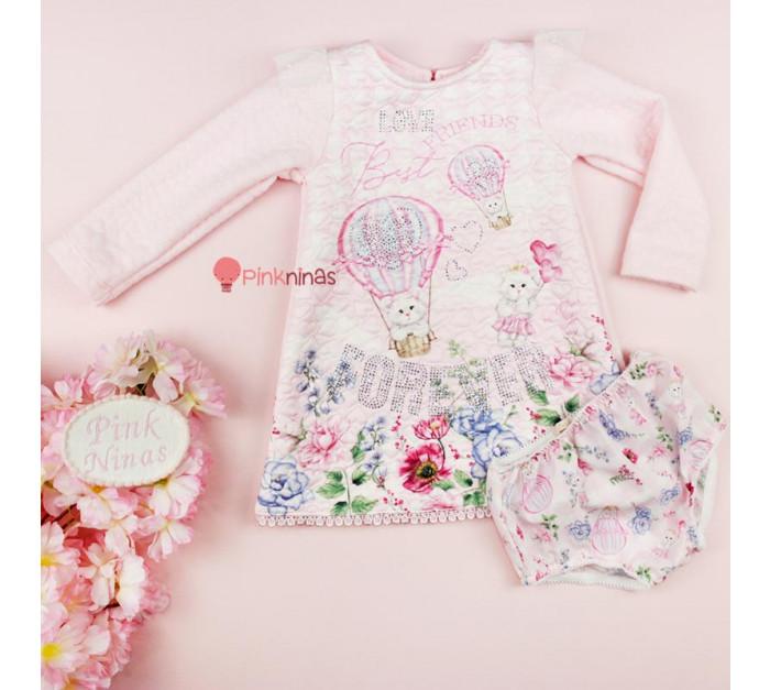vestido-infantil-bebe-rosa-petit-cherie-classic-flowers-calcinha-frente