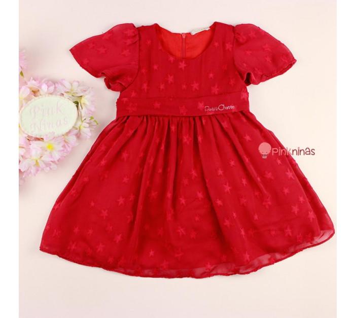 vestido-de-festa-infantil-bebe-vermelho-petit-cherie-estrelas-frente