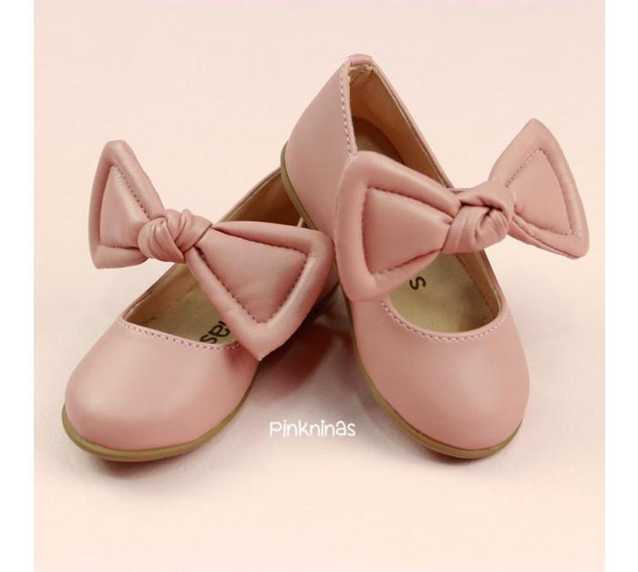 sapato-infantil-napa-petala-rosa-laco-estilo-sapatilha-frente