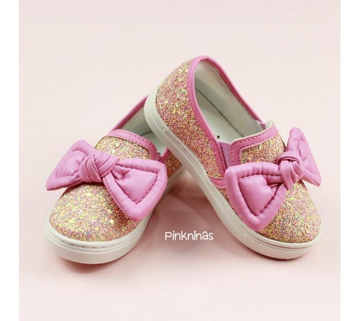 sapato-infantil-gliter-premium-rose-e-capra-petunia-laco-frente