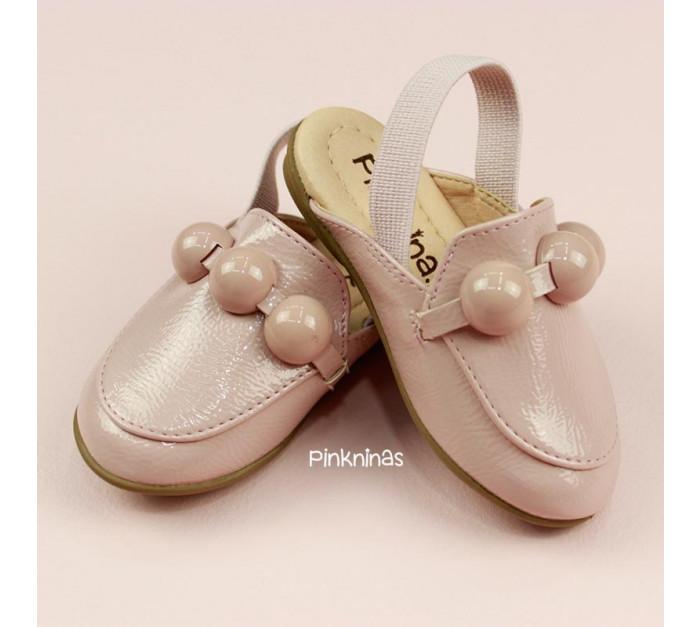 sapato-infantil-mule-de-verniz-molhado-candy-rosa-frente