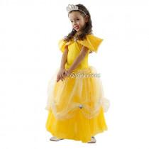 Fantasia Infantil Vestido de Princesa Amarelo