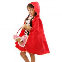 Fantasia Infantil Chapéuzinho Vermelho: Vestido, Capa e Cesta