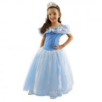 Fantasia Infantil Vestido de Princesa Azul