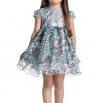 f1dc23ff60 Vestido Infantil de Festa Floral Oncinha Ninali de Chiffon Giovanna