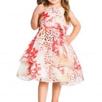 0c7c44f4ef Vestido Infantil de Festa Oncinha Floral Ninali de Chiffon Isabella