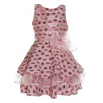 Vestido Infantil de Festa Rosa Tafetá e Gazar Muriel ab4bc1654e0