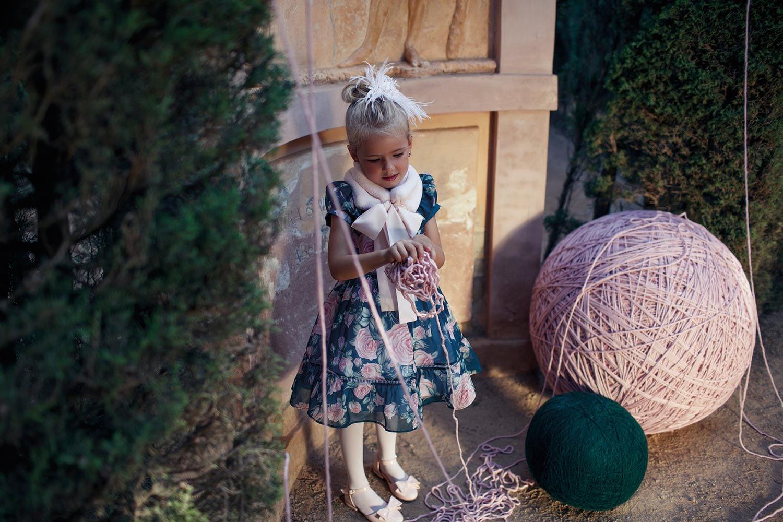 vestido infantil de festa Pink Ninas
