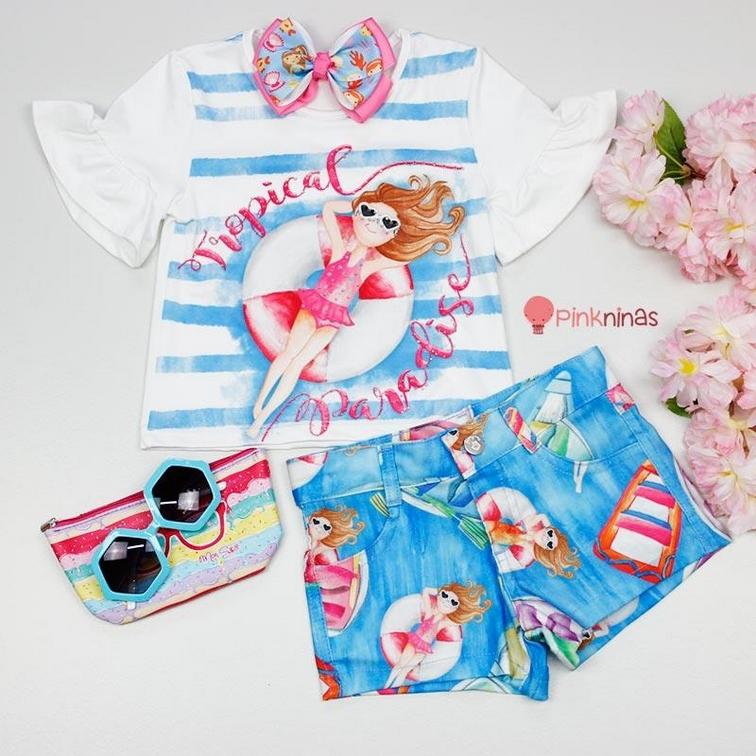 Conjunto Infantil Feminino Pink Ninas