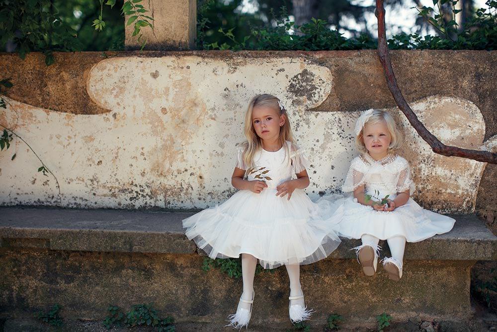 vestido infantil de luxo conceito