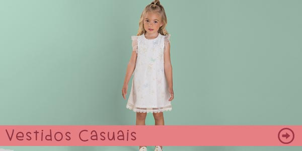Vestidos Infantis Casuais na Pink Ninas