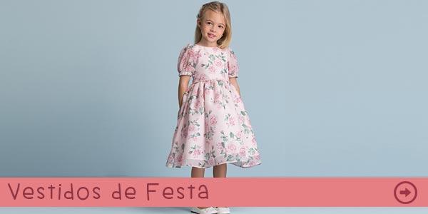 Vestidos Infantis de Festa na Pink Ninas